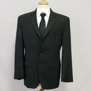 Ralph Lauren 3 button suit jacket pinstripes 42R